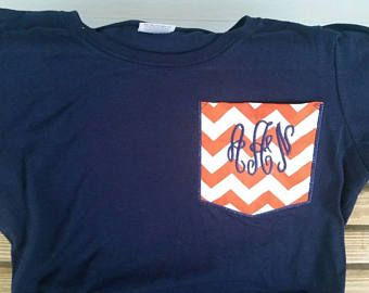 Check out Pocket Tee - Chevron Pocket - Monogrammed Pocket - Monogram Pocket Tee - Monogrammed Shirt - Faux Pocket - Monogrammed Gift - Personalized on fabuellaboutique