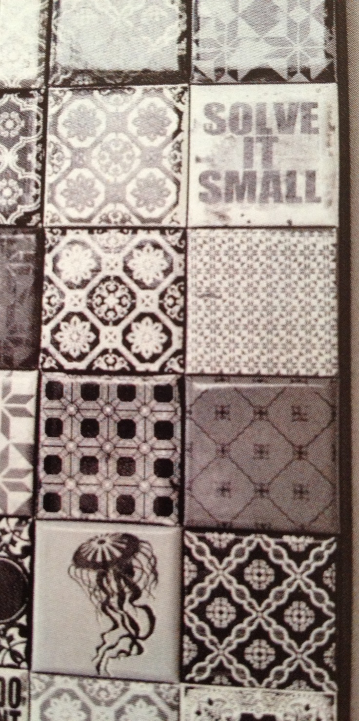 We are looking at the idea of small and different tiles, here. ;)