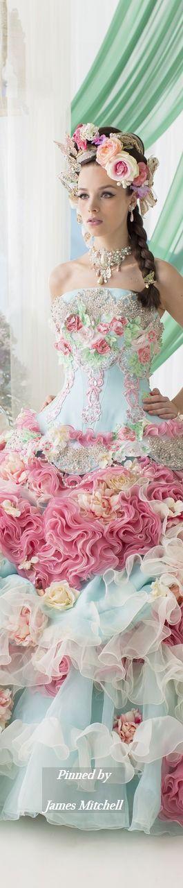 Kleid Blumenpastell