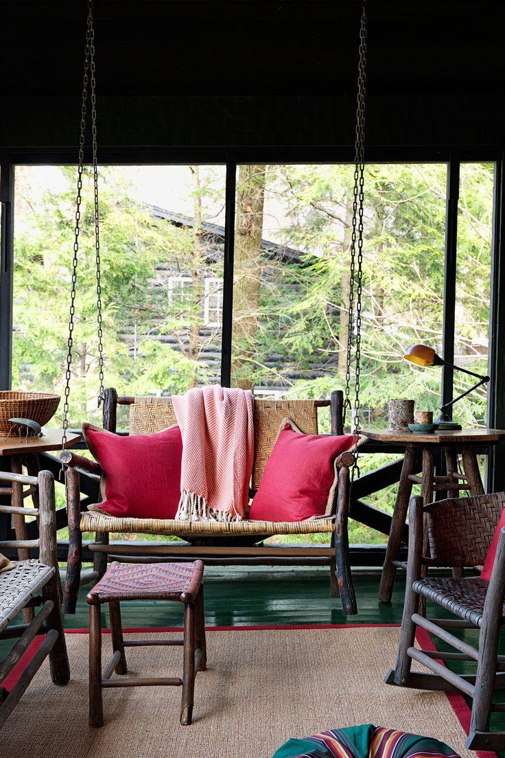 Rustic Log Porch  - CountryLiving.com