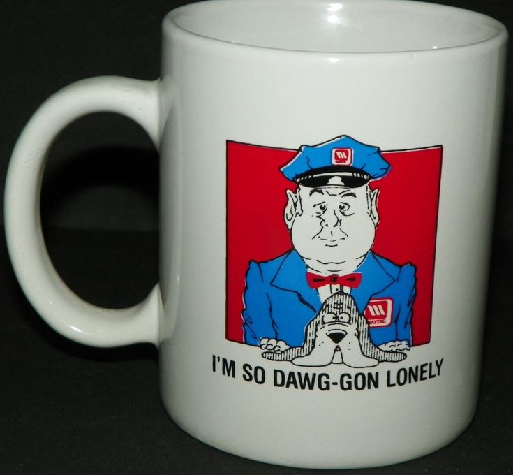 Maytag White Coffee Cup Mug I'm So Dawg-gon Lonely Advertising #Maytag