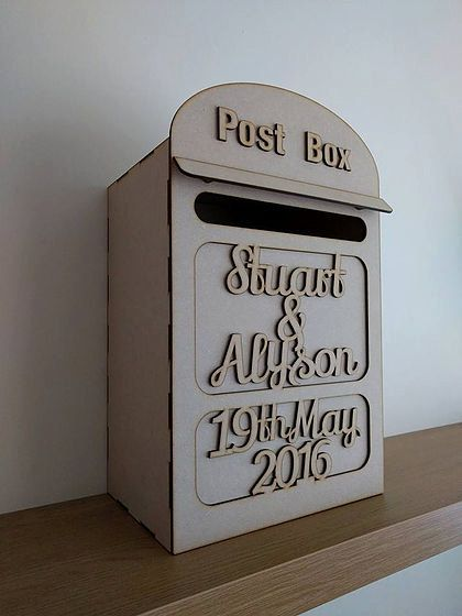 Wedding Post Box Mailbox Wedding Cards Box by ForgetMeKnotWed