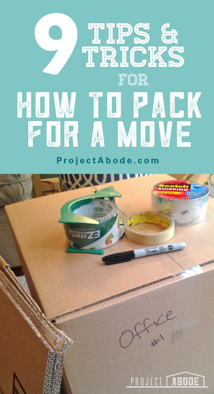 9 Tips & Tricks for how to pack for a move! And learn how to stay organized with a spreadsheet @ ProjectAbode.com