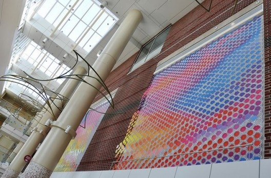 """Riley Sunrise"" Installation for Riley Hospital for Children #Gradient #Cutouts"
