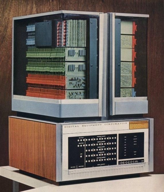 DEC PDP-8 – First successful commercial minicomputer, produced by Digital Equipment Corporation, 1965