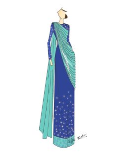 saree gown