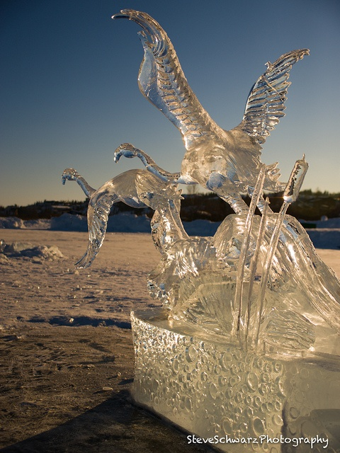 Ice carvings at the Yellowknife Long John Jamboree in March each year!  Steve Schwarz Photography