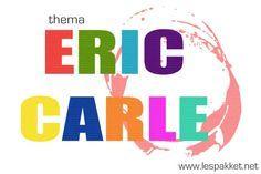 Iedereen kent wel één van de boeken van Eric Carle; zijn boeken hebben een herkenbare stijl en hij heeft er vele gemaakt. Het is dus erg leuk deze schrijver eens in het zonnetje te zetten, en een thema aan zijn boeken te wijden. Rupsje nooitgenoeg - de spin die het te druk had - kakelbonte kameleon - lesideeën