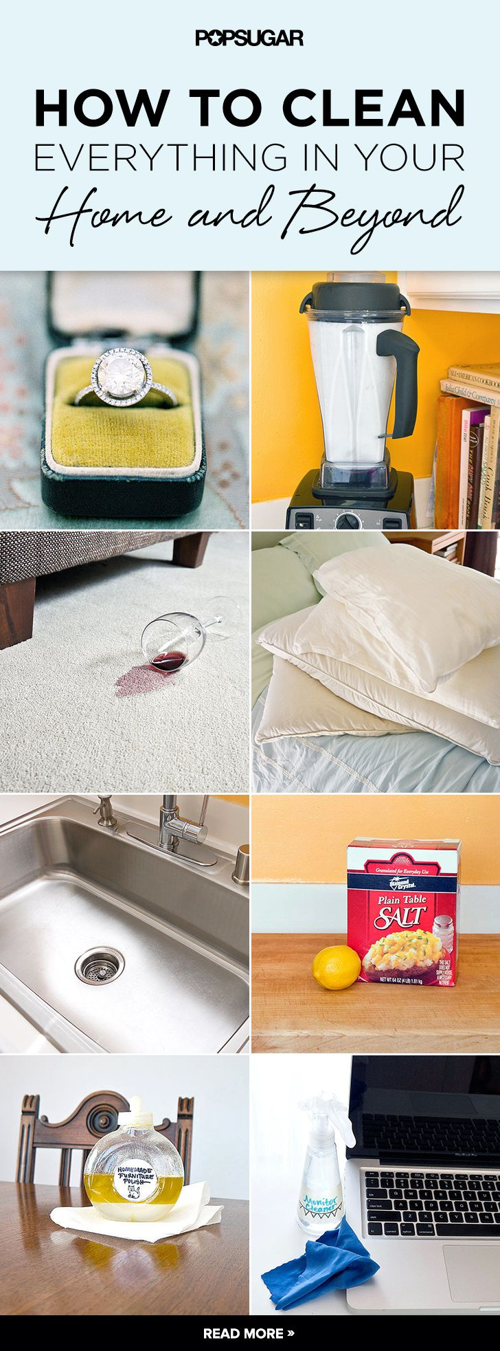 How to Clean Everything in Your Home and Beyond #goodtoknow