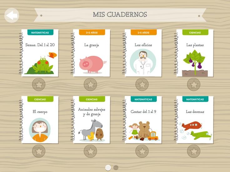 Cuadernos para niños de entre 3 y 8 años.