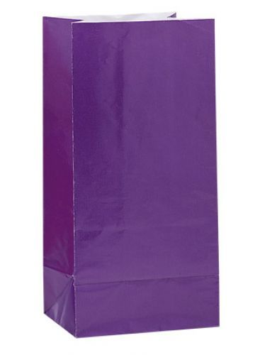 Purple paper party bags http://www.wfdenny.co.uk/p/purple-paper-party-bags/4295/