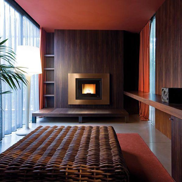 Manteau de cheminée contemporain / en acier / à 1 face FRAME MCZ