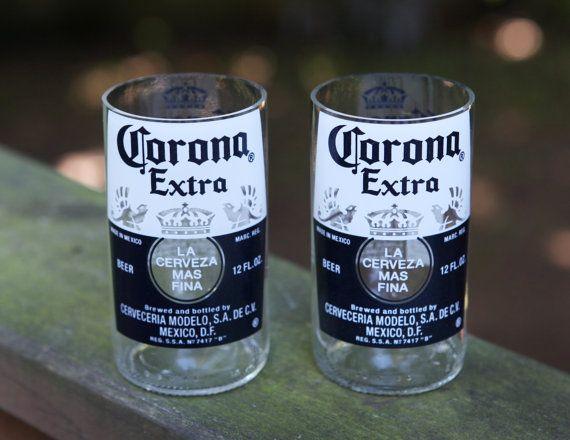 Upcycled de bouteilles de bière Corona de verres à par PNGdesign