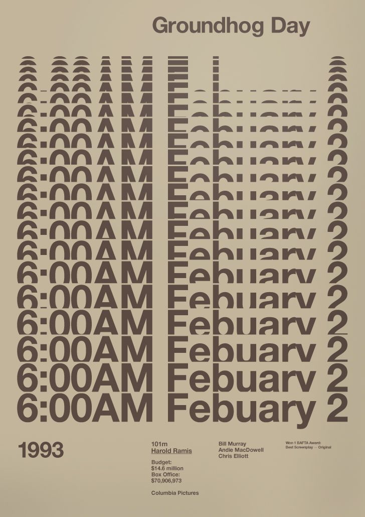 Groundhog Day Film Poster - A.N.D Studio Film Legacy Exhibition