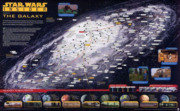 Star Wars Galaxy Map HD Wallpaper