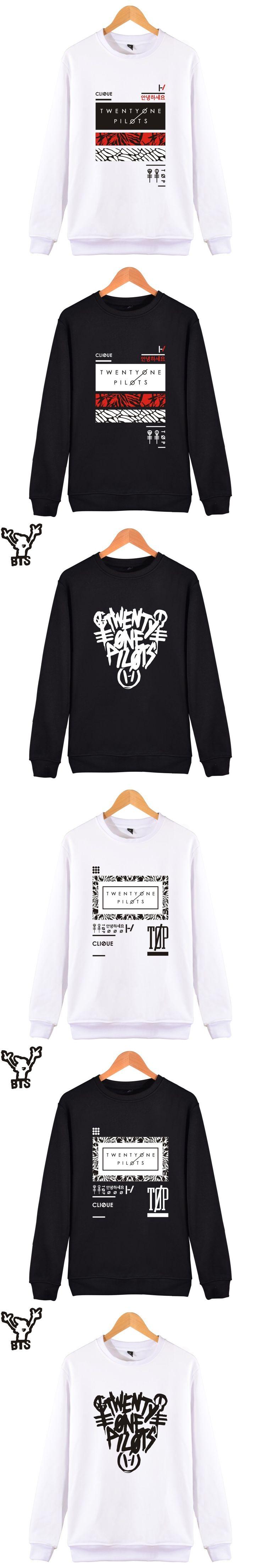 BTS Twenty One Pilots Sweatshirt Men Hoodie 2017 Popular Rock Band Hoodies Hip Hop USA Fashion Casual Fans Streetwear Clothes
