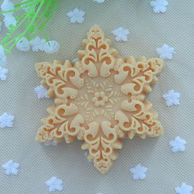 Snowflakes Shape Soap Mold Fondant Cake Chocolate Silicone Mold, Decoration Tools Bakeware 3862181 2017 – $8.74