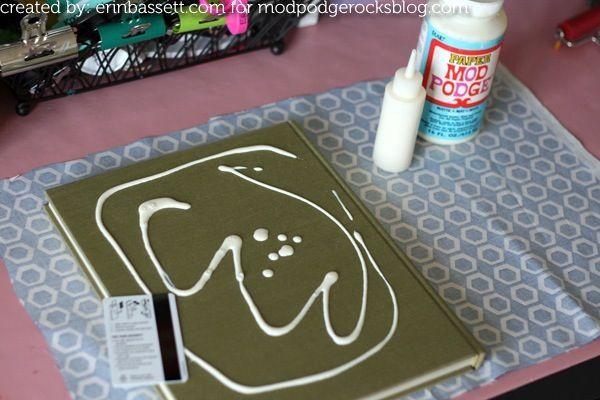 Mod Podge fabric covered books - Mod Podge Rocks