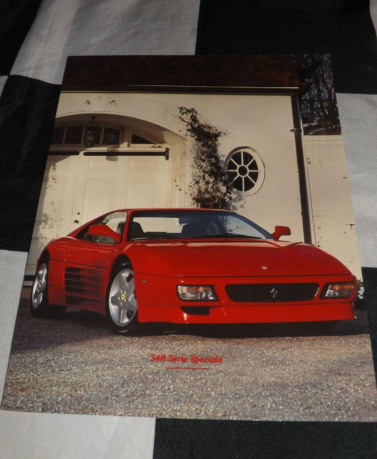 Ferrari 348 Tb Ts Serie Speciale Sales Brochure Prospekt