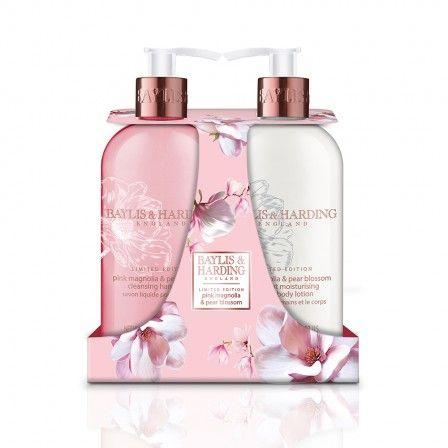 Baylis & Harding Pink Magnolia & Pear Blossom 500ml Hand Wash & Lotion Duo.