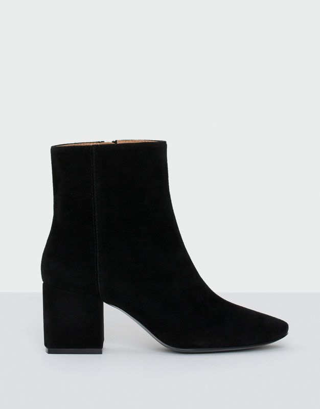 Ankle boots with medium heel - See all - Shoes - Woman - PULL&BEAR Belgium