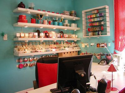 <3: Sewing Room, Organization, Craft Space, Ribbon Holder, Room Ideas, Craft Rooms, Crafts