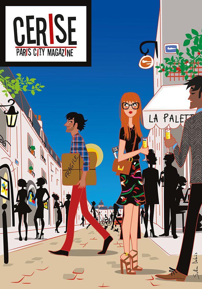 Illustration magazine Cerise