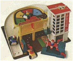 Little People Garage. Luke has the current day Little People garage...mine was so much better. Wish I still had it!