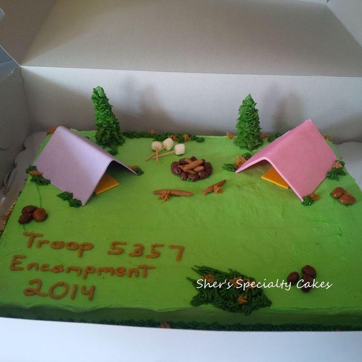 Girl Scout Encampment Cake