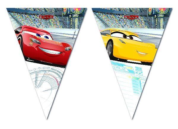 Banderines para cumpleaños de Cars 3, la última novedad en cines!  Para todos los fans de Rayo McQueen, ya tenemos en tienda la colección de fiesta de Cars para preparar un super cumple temático! #fiestadecars #cars #cumpleañoscars #cumpleañosdecars #decoracionfiesta #fiestastematicas #cumpleañosinfantiles #chiquiparty #fiestasbonitas #globoscars #rayomcqueen #veladecars