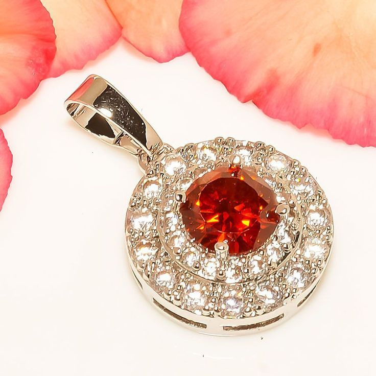 """Attractive Mozambique Red Garnet 925 Sterling Silver Jewelry Pendant 1.10"""" #Handmade #Pendant"""