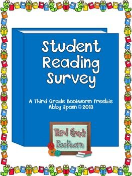 This quick and fun assessment will be an invaluable tool as you begin your year in Reader's Workshop. Give students this reading survey during the first week of school and keep it in your conferring notebook as a tool during individual student conferences.
