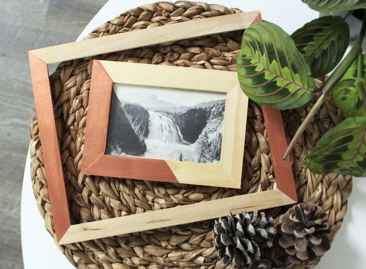 Simple Copper & Wood Frames