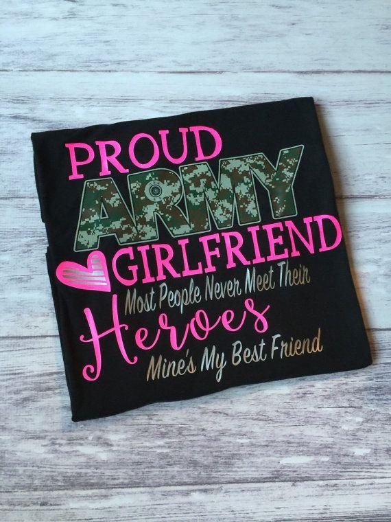 Proud Army Girlfriend t-shirt army girlfriend by PurpleElephantCo