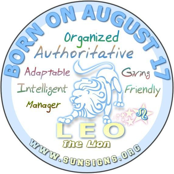 August 17 Birthday Horoscope Personality » Sun Signs