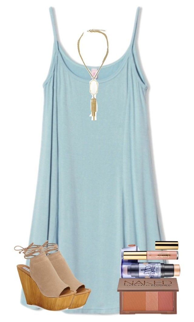 """""""Life Update!"""" by preppy-southern-girl88 ❤ liked on Polyvore featuring WithChic, Steve Madden, Kendra Scott, Urban Decay, Benefit and tarte"""