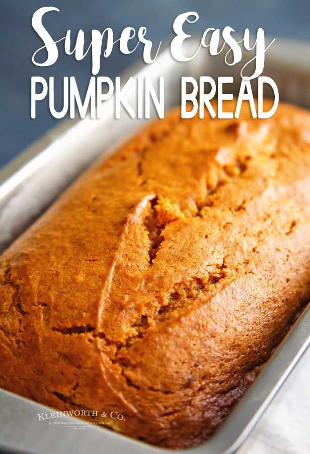 Easy Pumpkin Bread Is A Great Fall Recipe Perfect With Coffee On A Crisp October Morning Or Served For G Pumpkin Bread Easy Pumpkin Bread Pumpkin Bread Recipe