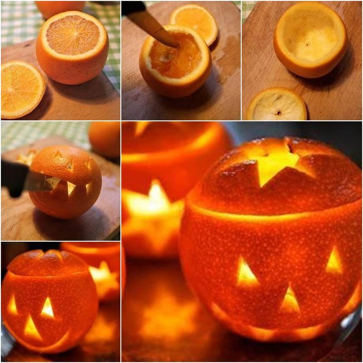 Grab a few oranges from the fridge to make some little cute orange lanterns for your Halloween party decor !  Easy to make--> http://wonderfuldiy.com/wonderful-diy-cute-little-orange-lantern/