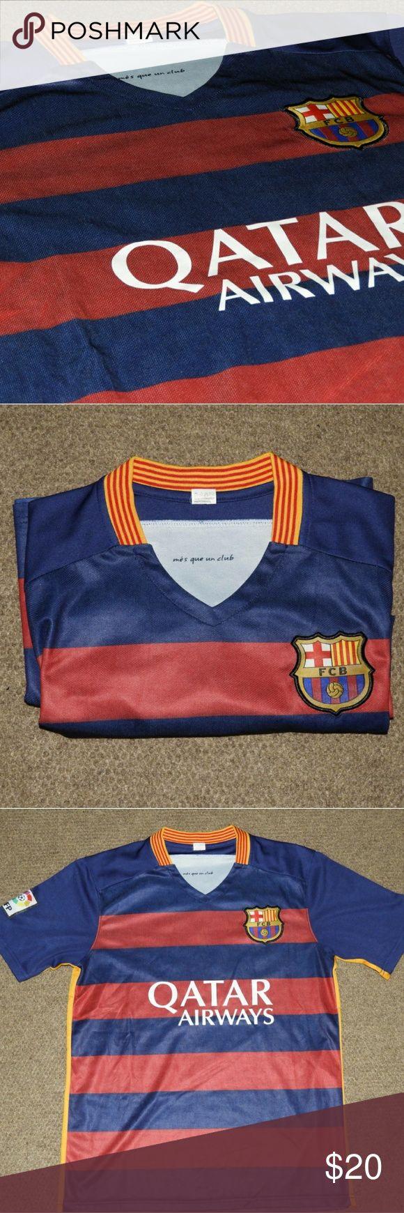 Luis Suarez Barcelona Jersey Barcelona club team jersey of famous striker Luis Suarez Shirts Tees - Short Sleeve