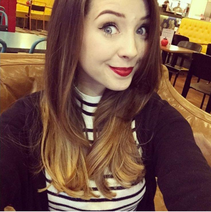 Zoella, Short hairstyles and Medium length hairs on Pinterest