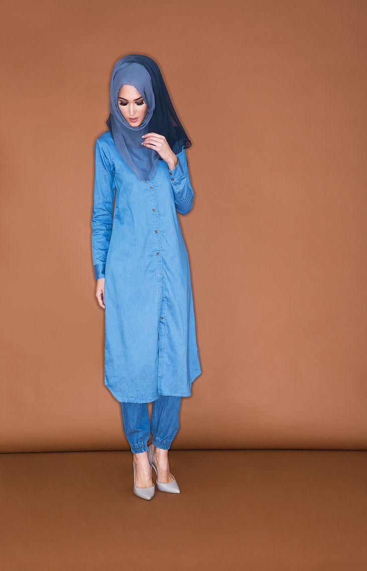 Shirt Dress Denim - Cool Blue | Aab