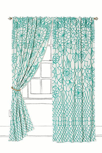 This window covering is wonderful! The color ties in our other pops of teal, while the pattern ties in the nightstand lamp! This would be the perfect compliment to the room--and really put it over the edge for style!