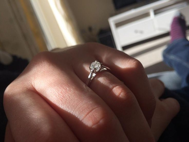 Bride @hazelbee said shed like a solitaire ring on a thin white gold band turns out he listens!