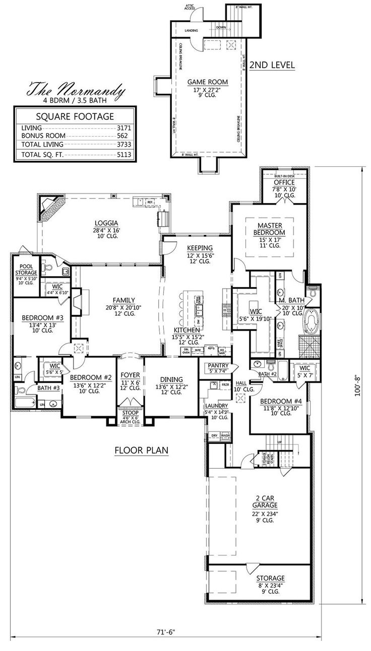 LOVE the MBath layout!!! Madden Home Design | The Normandy