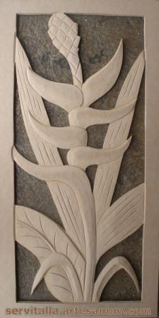cuadro heliconias tallado en madera cuadro heliconias tallado en madera mdf de 12mm  densidad 600 tallado a mano,talla