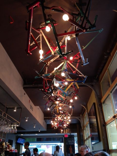 bike light hanging