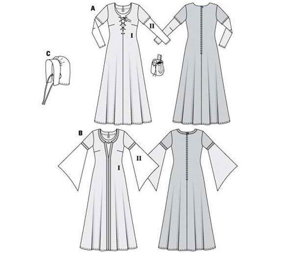 5 Patrones para disfraces medievales para mujer Disfraces me