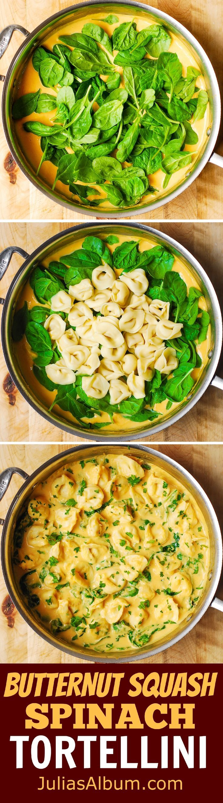 Butternut Squash and Spinach Tortellini - easy, weeknight dinner ready in just 30 minutes! (Butternut Squash Recipes)
