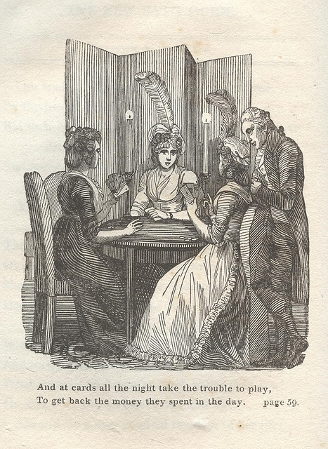 A Card Party. From 'The New Bath Guide' by Anstey, 1807