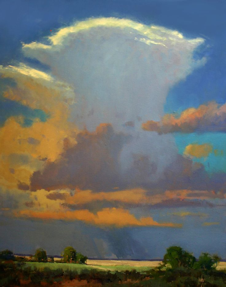"""""""Flatland Cloud Burst"""" has been accepted into the Oil Painters of America Western Regional Show"""